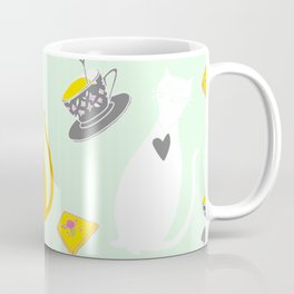 Cool Cats Coffee and Chessse party Artwork Coffee Mug