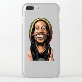 Celebrity Sunday - Robert Nesta Marley Clear iPhone Case