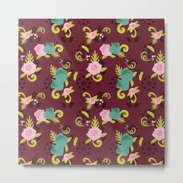 Floral Whimsy Metal Print