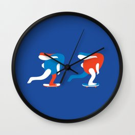 Spring rolls in blue Wall Clock