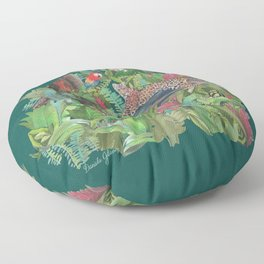 Into the Wild Emerald Forest Floor Pillow