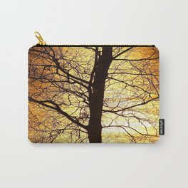 Tree Silhouette At Sunset #decor #society6 Carry-All Pouch