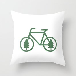 Pacific Northwest Cycling - Bike, Bicycle, Portland, PDX, Seattle, Washington, Oregon, Portlandia Throw Pillow