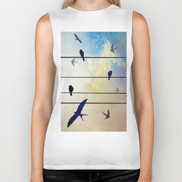Swallow at Night Biker Tank