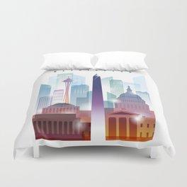 City of skyline, Washington DC, United States Duvet Cover