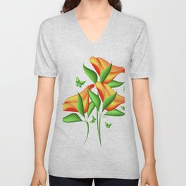 """Tulip Delight"" Unisex V-Neck"