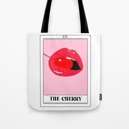 the cherry tarot card Tote Bag