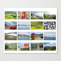 scotland Canvas Prints featuring Scotland by Basma Gallery