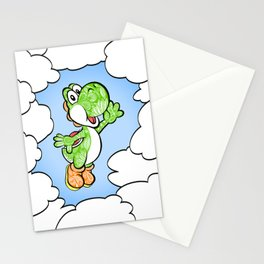 Yoshi in the sky !  Stationery Cards