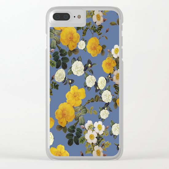Autumn gold floral roses Clear iPhone Case