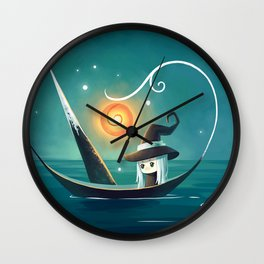 Little Witch 3 Wall Clock