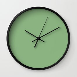 Solid Dark Sea Green Color Wall Clock