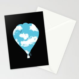 sky balloon Stationery Cards