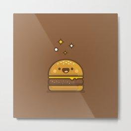 Golden Cheeseburger Metal Print