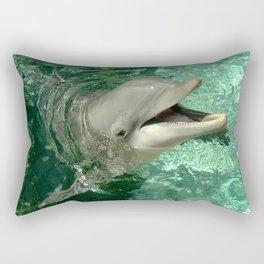 Smiling Dolphin Rectangular Pillow