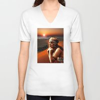 oasis V-neck T-shirts featuring Oasis by Danielle Tanimura