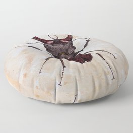 Stag beetle painting Floor Pillow