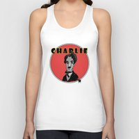 charlie Tank Tops featuring Charlie by Todd A. Winter