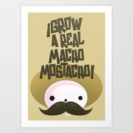 macho mostacho  Art Print