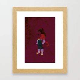 SSJ4 Saiyan Prince Framed Art Print