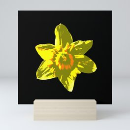 Daffodil On Black Mini Art Print