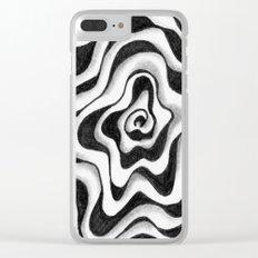 Doodled Rose & Vine Clear iPhone Case