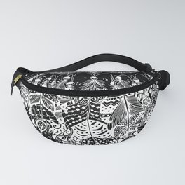 Dream Catcher on Black Fanny Pack