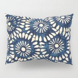 Blue and White Flower Pattern Pillow Sham