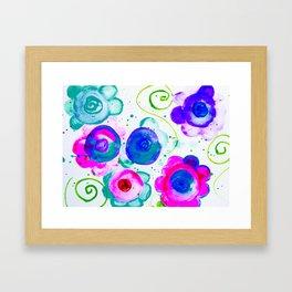 dounut flowers Framed Art Print