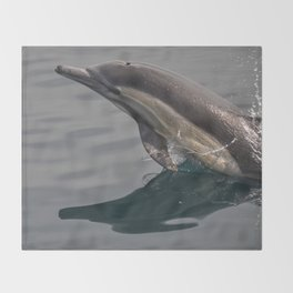 Leaping Dolphin Throw Blanket