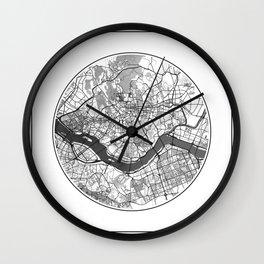 Seoul Map Universe Wall Clock
