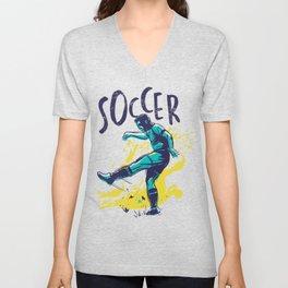 Soccer Players Unisex V-Neck