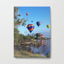 Hot air balloon scene Metal Print