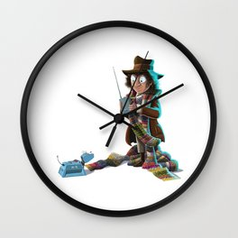 Doctors at Play - 4th Doctor (Sir Tom of Baker) and K9 Wall Clock