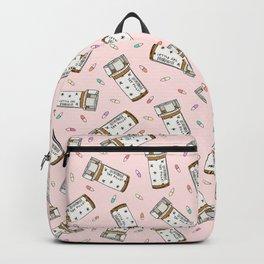 Rainbow Pill Pattern Backpack