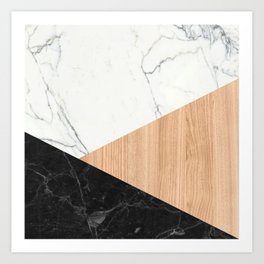 Marble and Wood Abstract Art Print