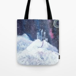 castle in the galaxy painting Tote Bag