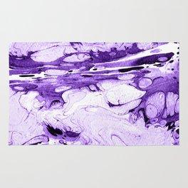 Violet Marbling drawing brush Rug