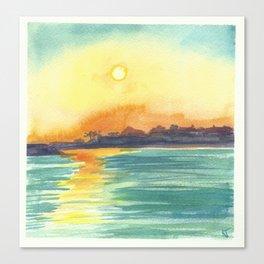 Cresent Bay Sunset Canvas Print