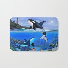 THE ORCA FAMILY Bath Mat