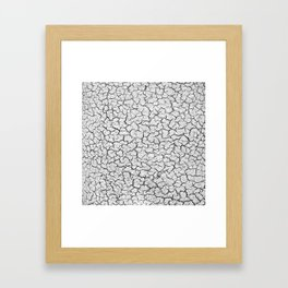 Cracked Abstract Print Texture Framed Art Print