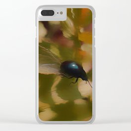 Blue beetle in may Clear iPhone Case