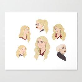 The Evolution of Emma Swan Canvas Print