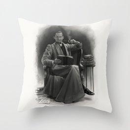 The Omnivorous Reader Throw Pillow
