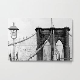 new york city ... brooklyn bridge & lantern Metal Print