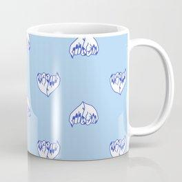 Best Friend Galentine's Day Pinky Promise Pattern in Blue Coffee Mug