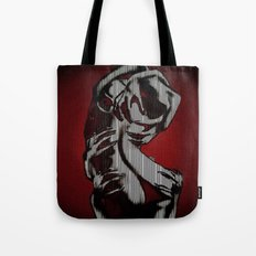 Scratch My Back I'll Scratch Yours (bright red and blk) Tote Bag