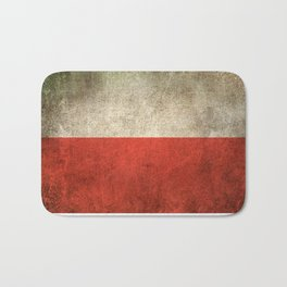 Old and Worn Distressed Vintage Flag of Poland Bath Mat