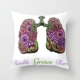 Plant Lungs Throw Pillow