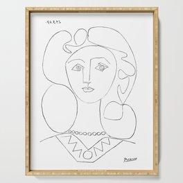 Pablo Picasso La Femme Au Collier (Woman With A Necklace) Serving Tray